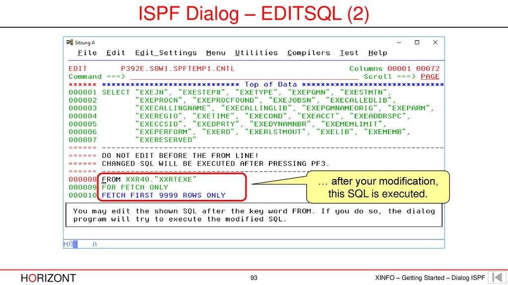 How to use XINFO ISPF Dialog - ppt download
