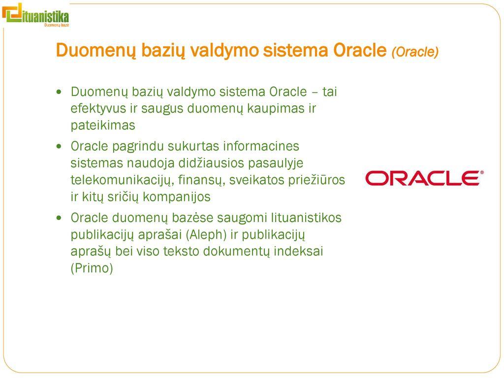 oracle duomenų konvertavimo strategija