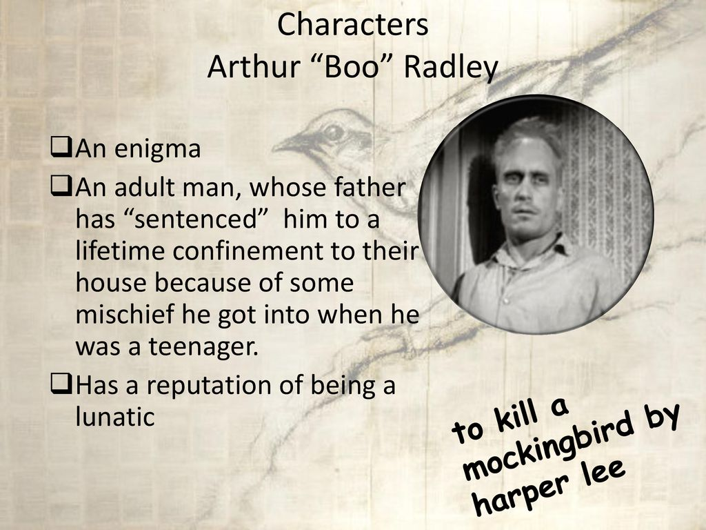 to kill a mockingbird arthur