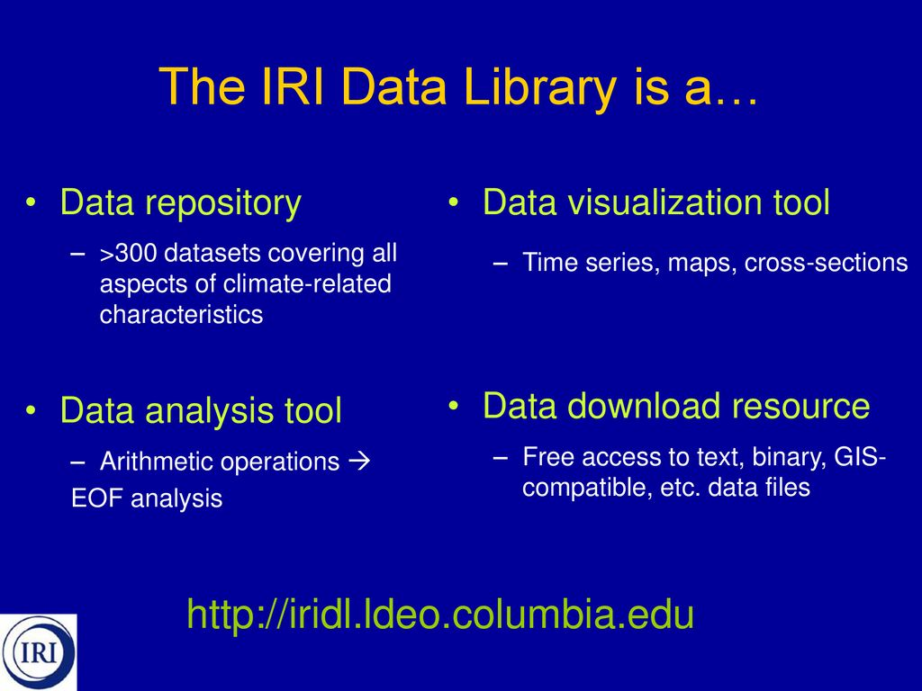An Introduction to the IRI Data Library - ppt download
