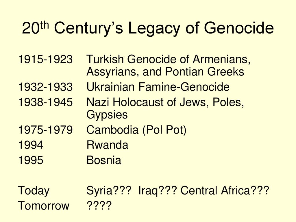10th World Studies Today's Agenda: Armenian Genocide - ppt download