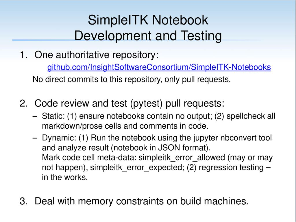 Notebook Development and Testing - ppt download