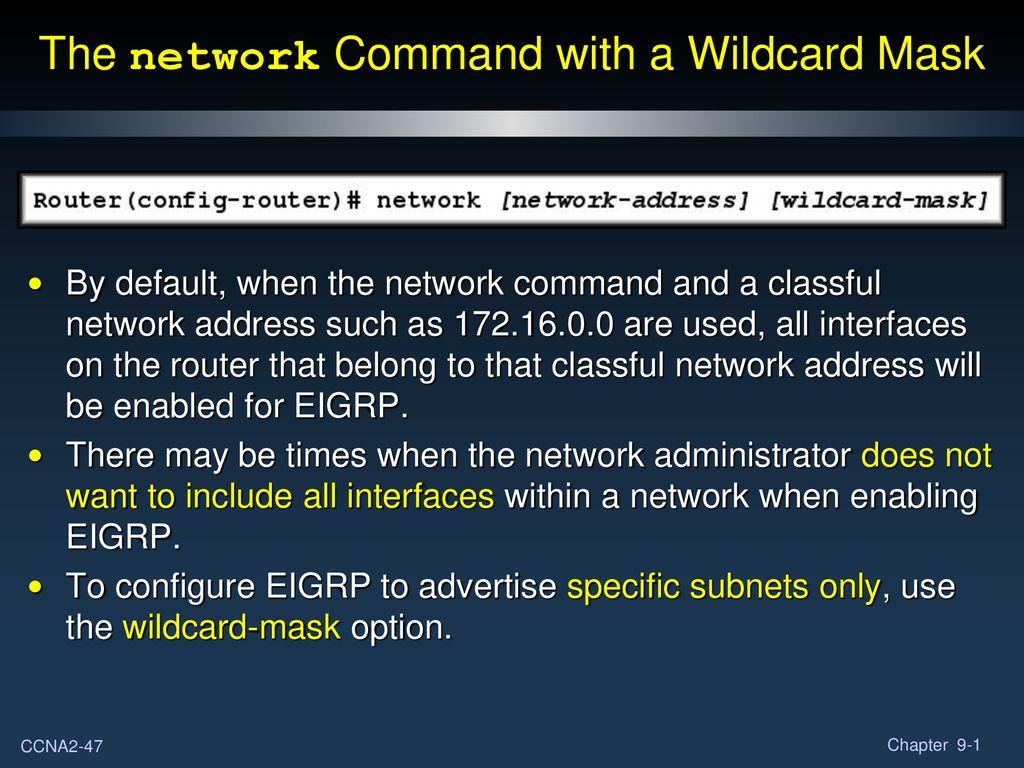 Enhanced Interior Gateway Routing Protocol (EIGRP) Part I