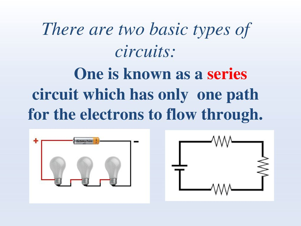 Circuit Is Path That Allows Electricity To Flow Through Electric Circuits An Electrical Device Provides A For There Are Two Basic Types Of
