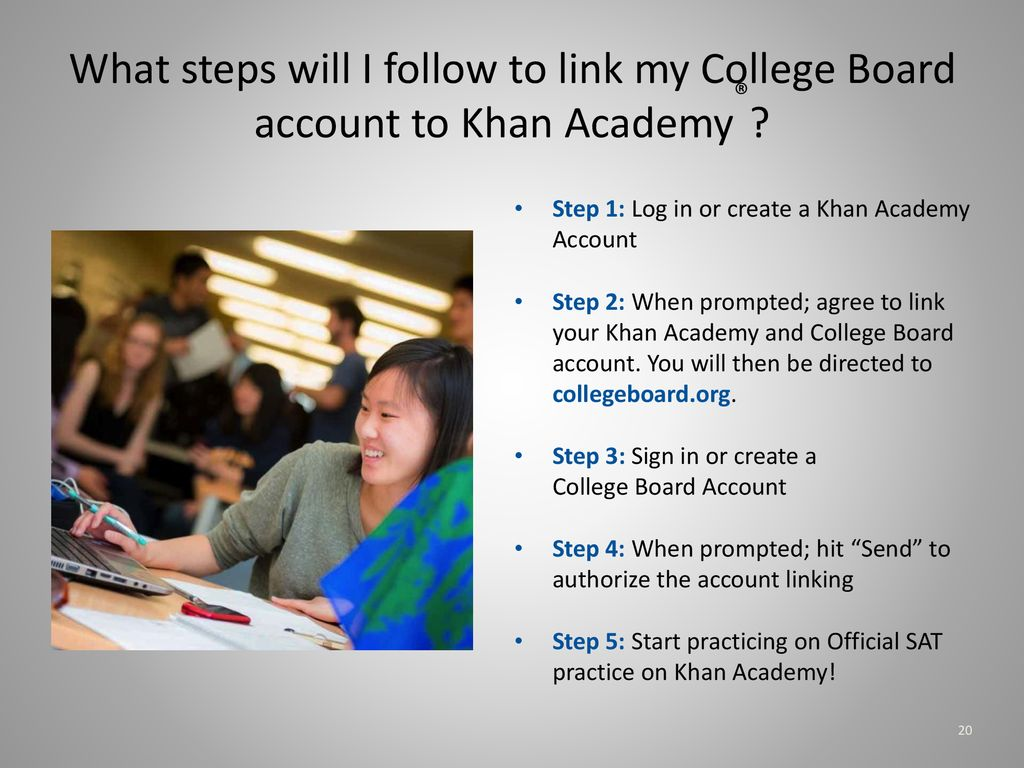 Amhs Junior Information Seminar Ppt Download Make A College Board Account What Steps Will I Follow To Link My Khan Academy