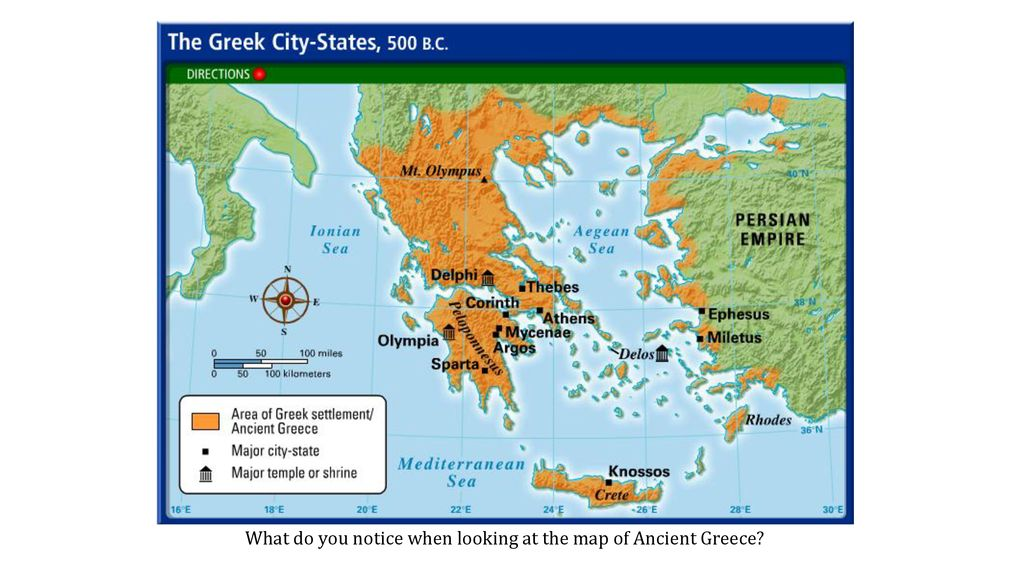 What Do You Notice When Looking At The Map Of Ancient Greece Ppt