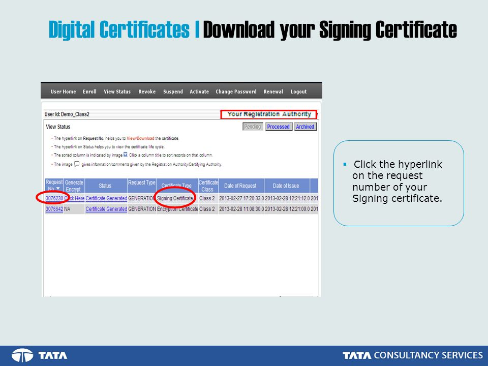 Digital Certificates | Download your Signing Certificate