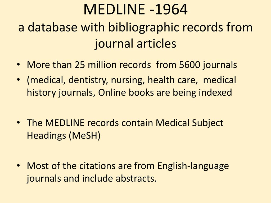 The National Library of Medicine and its databases - ppt download