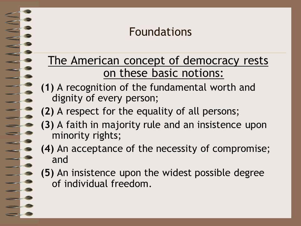 the concept of democracy Democracy is by far the most challenging form of government - both for politicians and for the people the term democracy comes from the greek language and means  rule by the (simple) people the so-called democracies in classical antiquity (athens and rome) represent precursors of modern democracies.