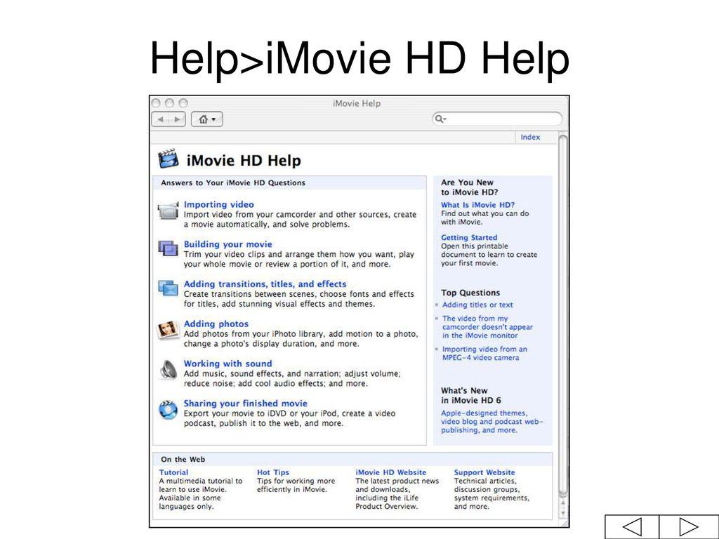 IMovie Tutorial Version ppt download
