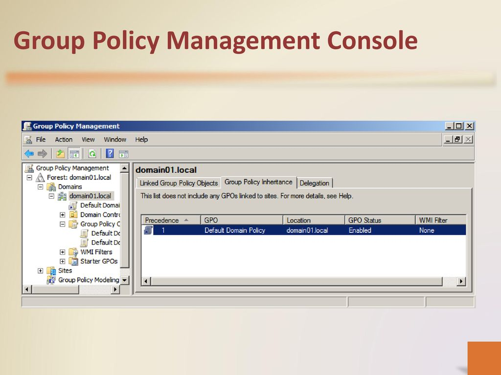 Planning a Group Policy Management and Implementation Strategy - ppt