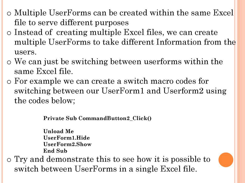 UserForm  - ppt download