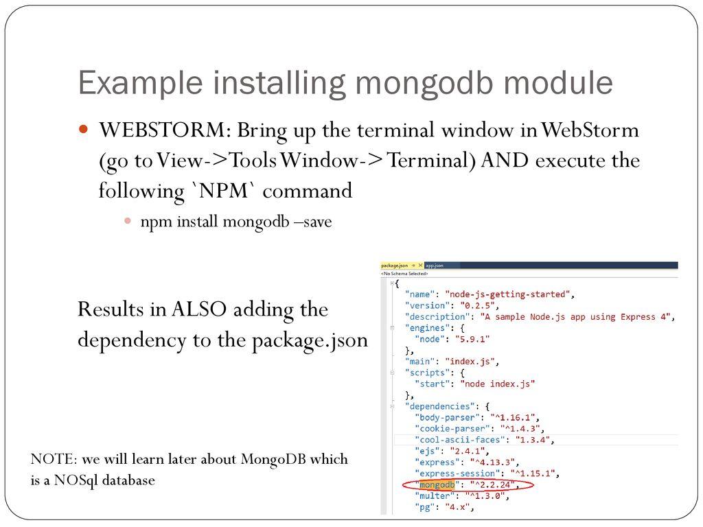 NodeJS coding basics L  Grewe  - ppt download