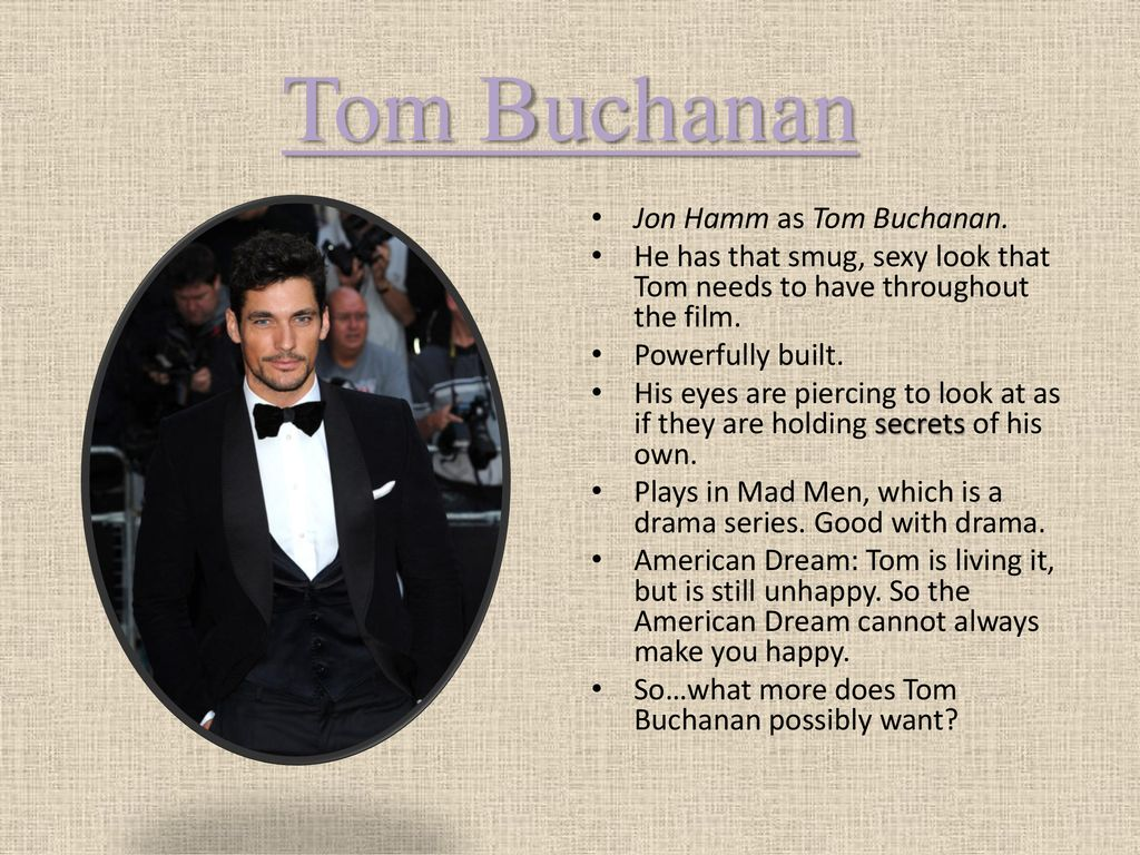 tom buchanan american dream