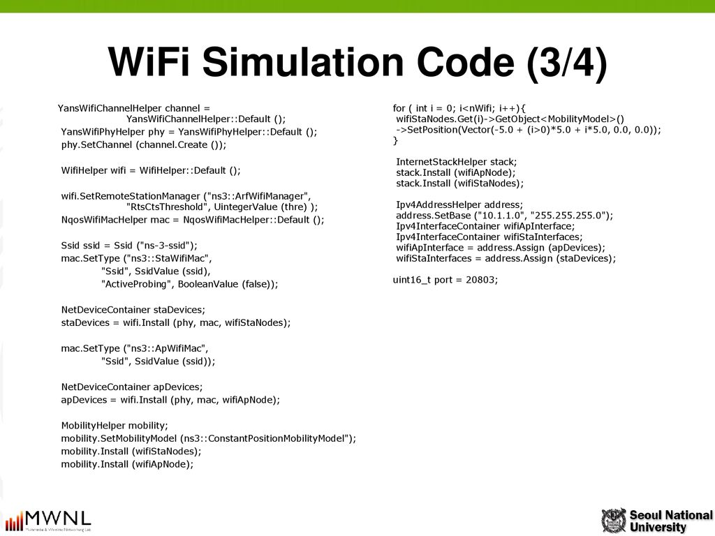 Session 7  Wireless LAN in ns-3 - ppt download
