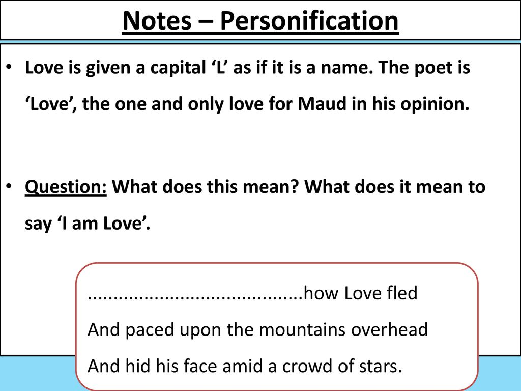 what does personification