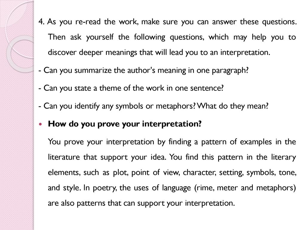 Guidelines for Writing a Literary Critical Analysis - ppt