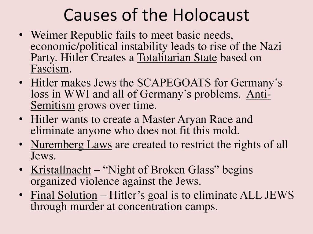 causes of the holocaust essay