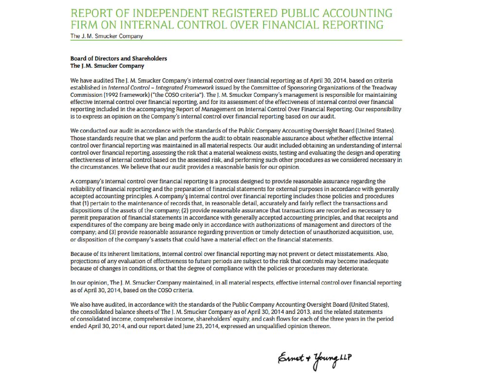 What information is in the auditor and management letters in