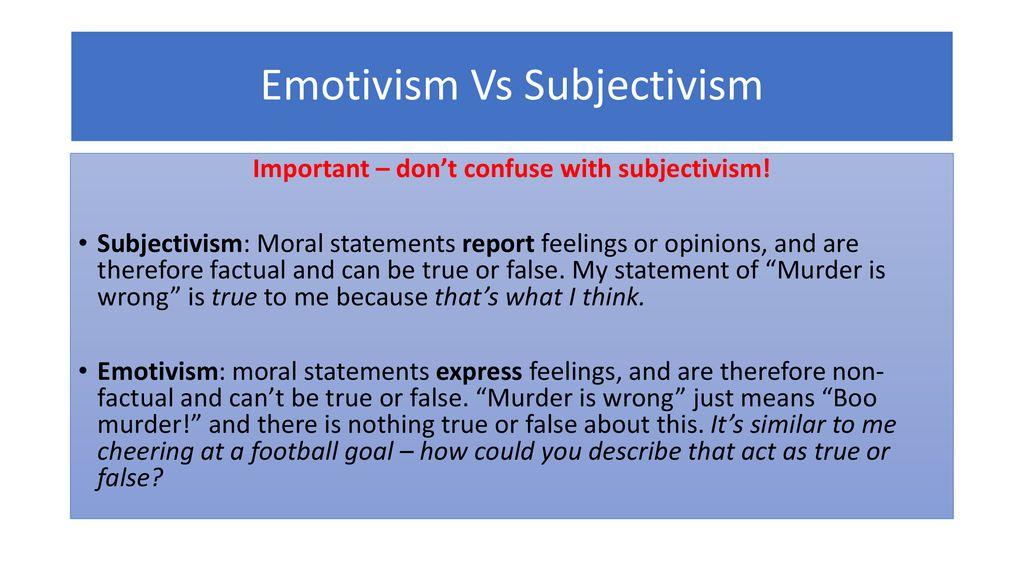 what does emotivism mean