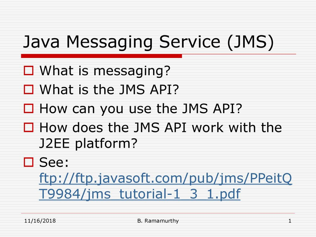 Java Messaging Service (JMS) - ppt download