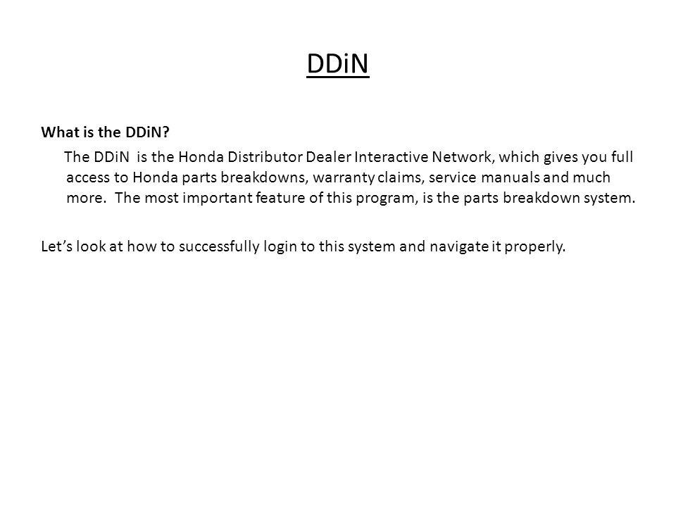Honda DDiN And TACS Login 2