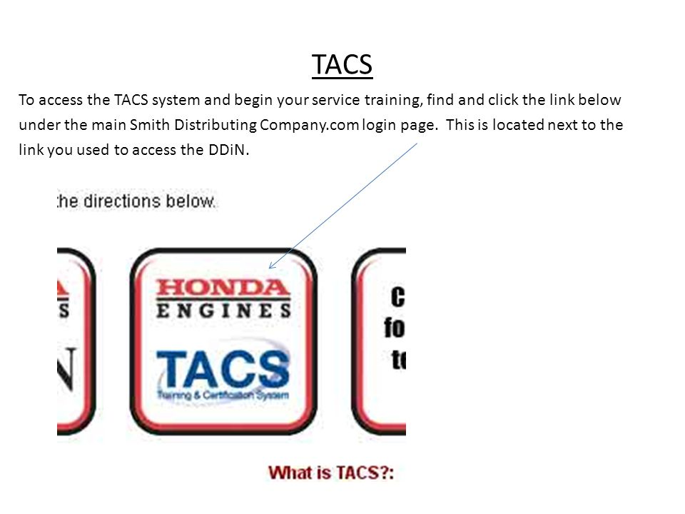 Honda DDiN And TACS Login