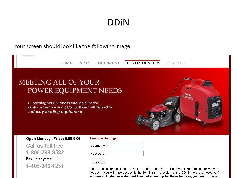 Honda Ddin And Tacs Login Ppt Video Online Download