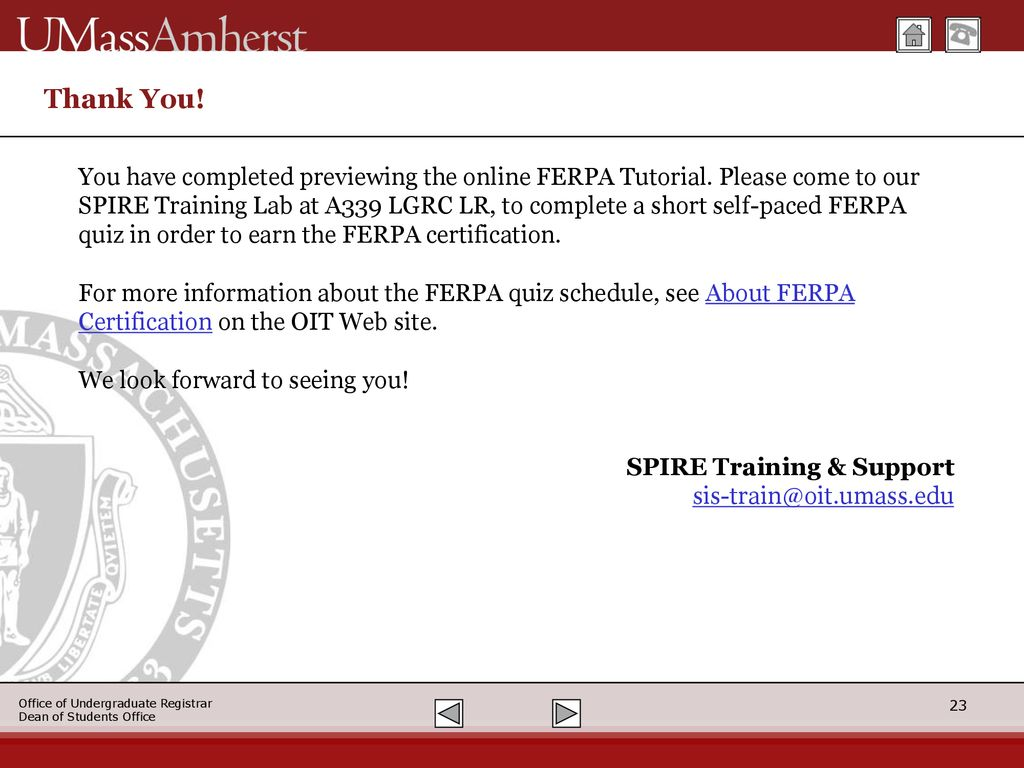 Ferpa Tutorial Family Educational Rights And Privacy Act Of 1974