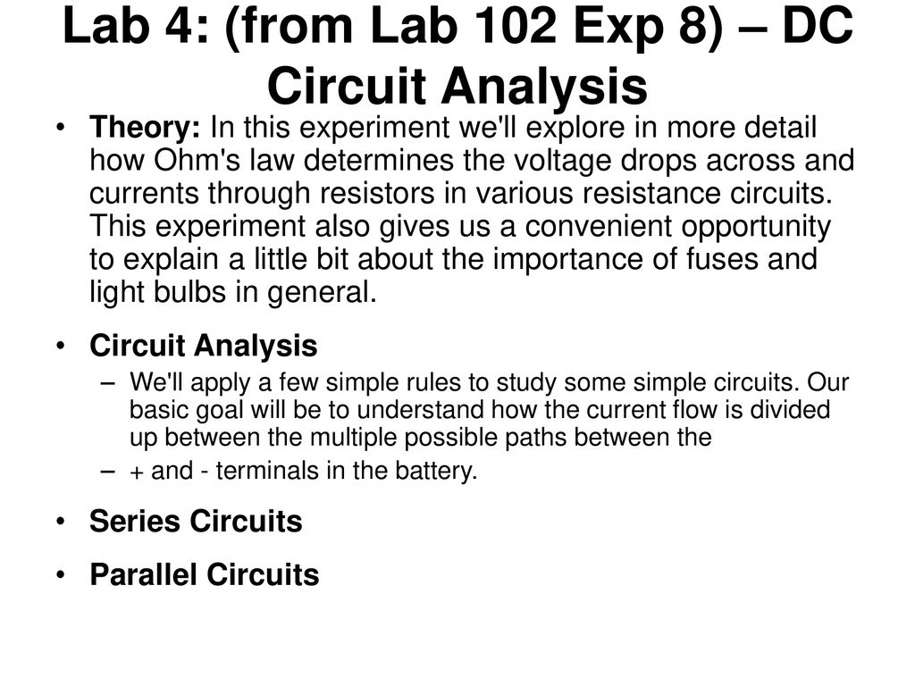 Solar Energy Technology Science Summer Camp Ppt Download Basic Dc Theory Circuit Analysis All Of The Lab 4 From 102 Exp 8