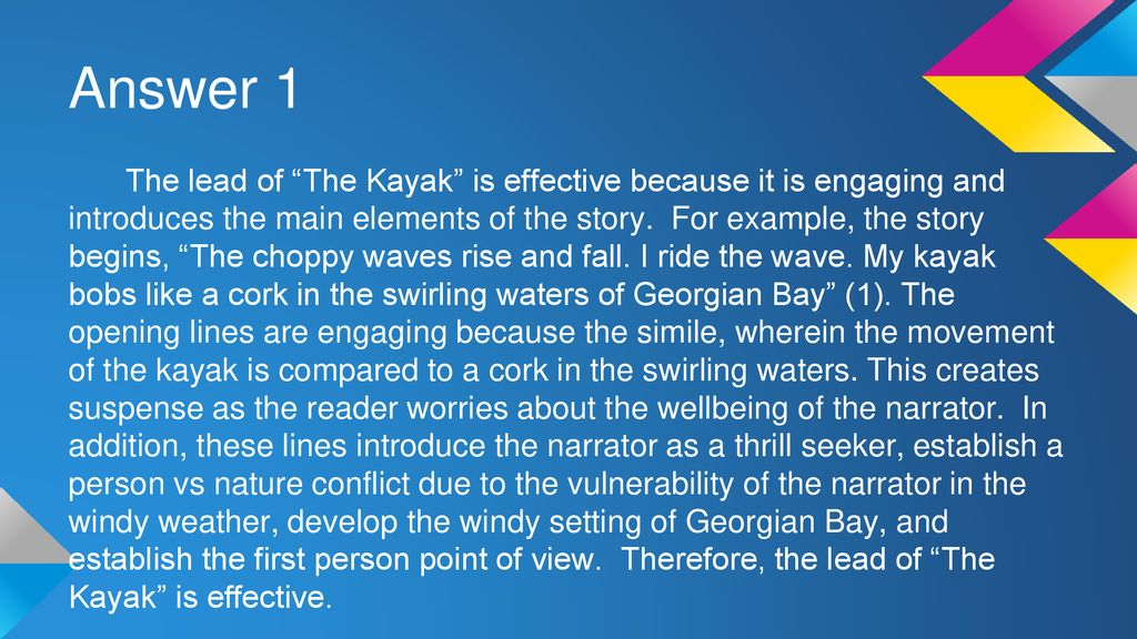 16++ The kayak short story answers trends