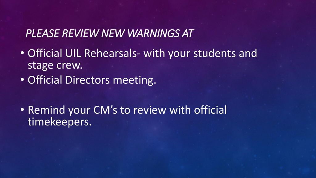Fresh Rules/updates: Theatre - ppt download