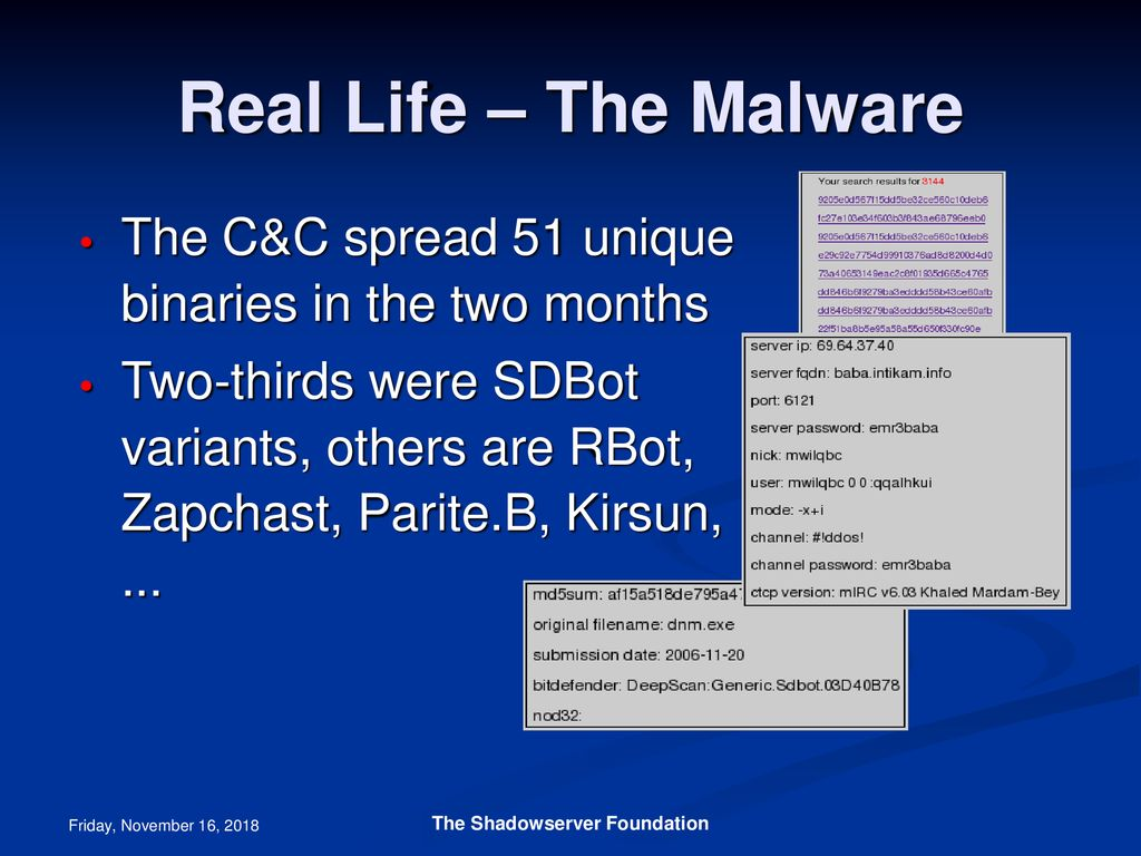 Botnets and Botherders The Shadowserver Foundation - ppt download