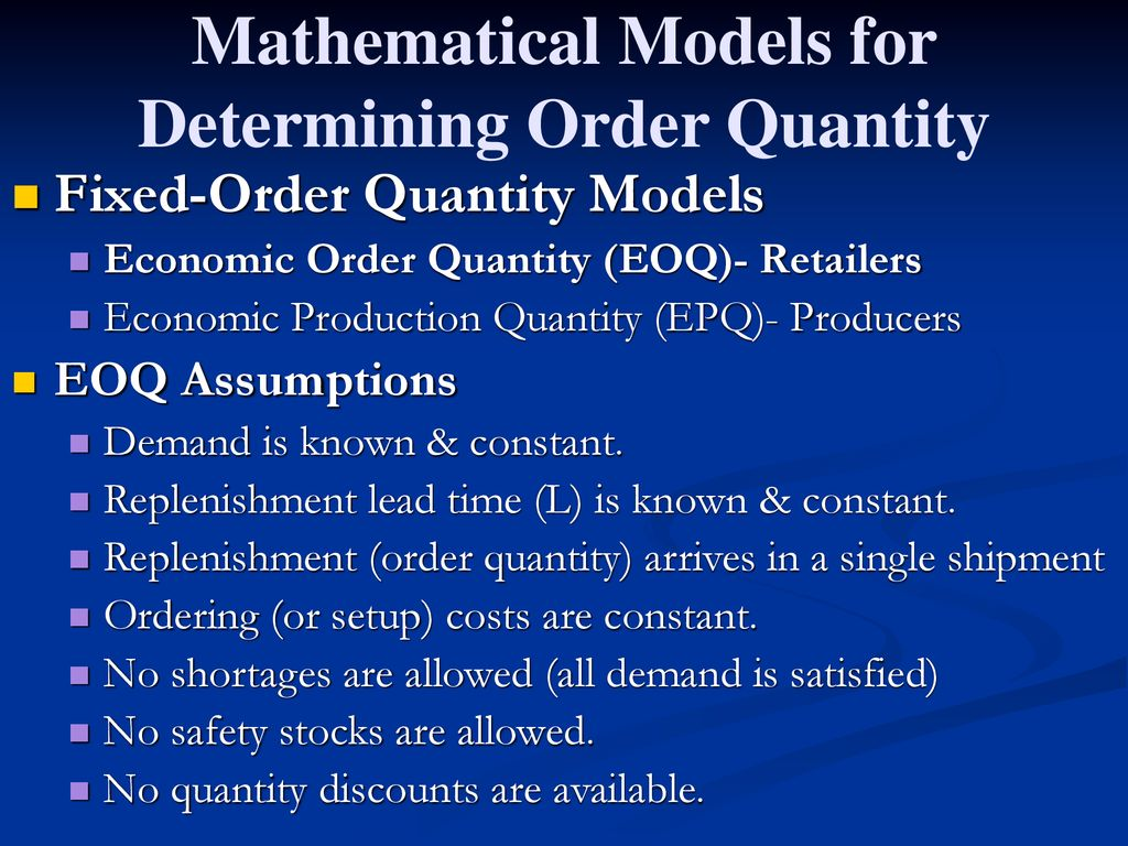 Independent Demand Inventory Management - ppt download