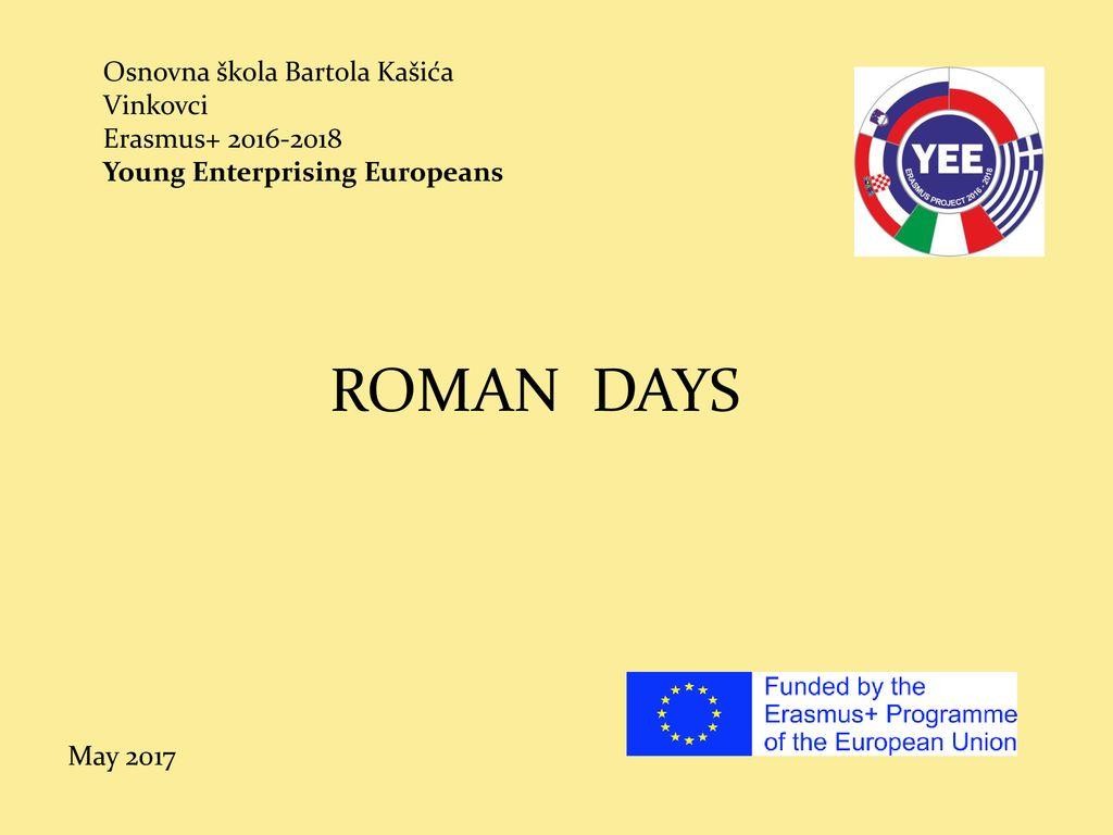 Osnovna Skola Bartola Kasica Vinkovci Erasmus Young Enterprising