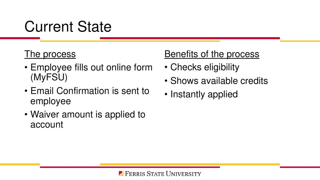 Automating The Tuition Waiver Process - ppt download