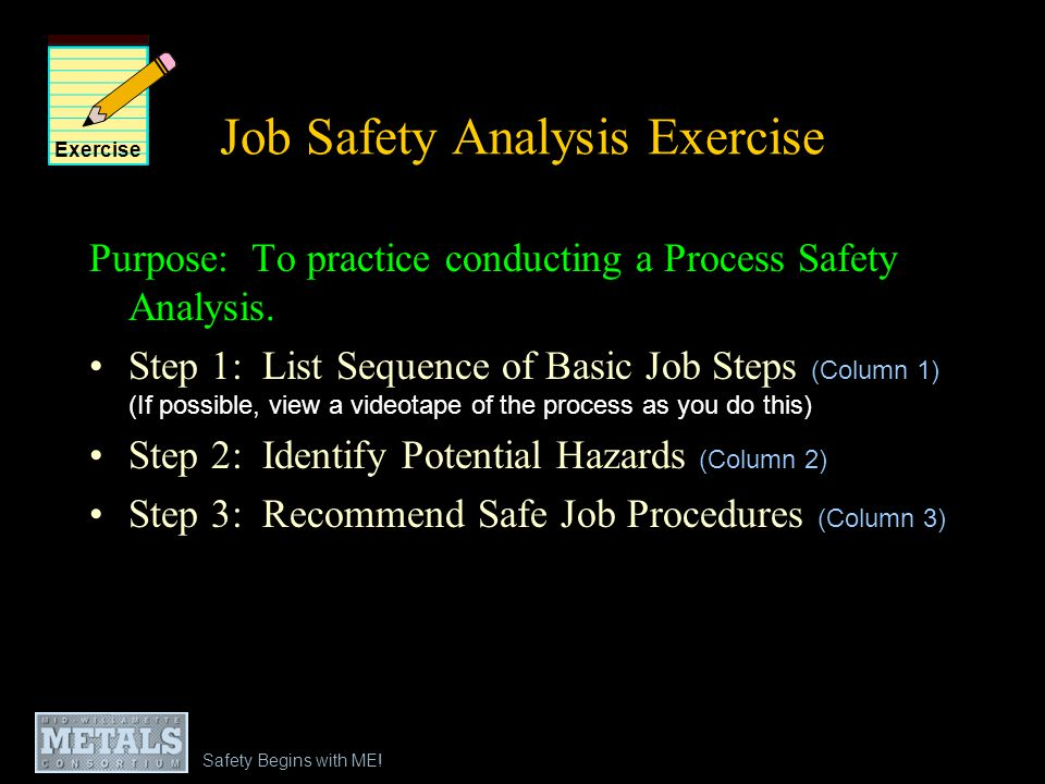 Job Safety Analysis Exercise
