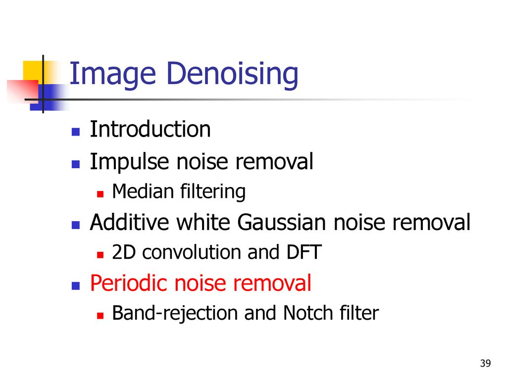 Noise in Imaging Technology - ppt download