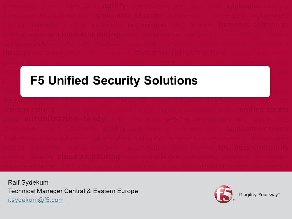 F5 Unified Security Solutions - ppt download
