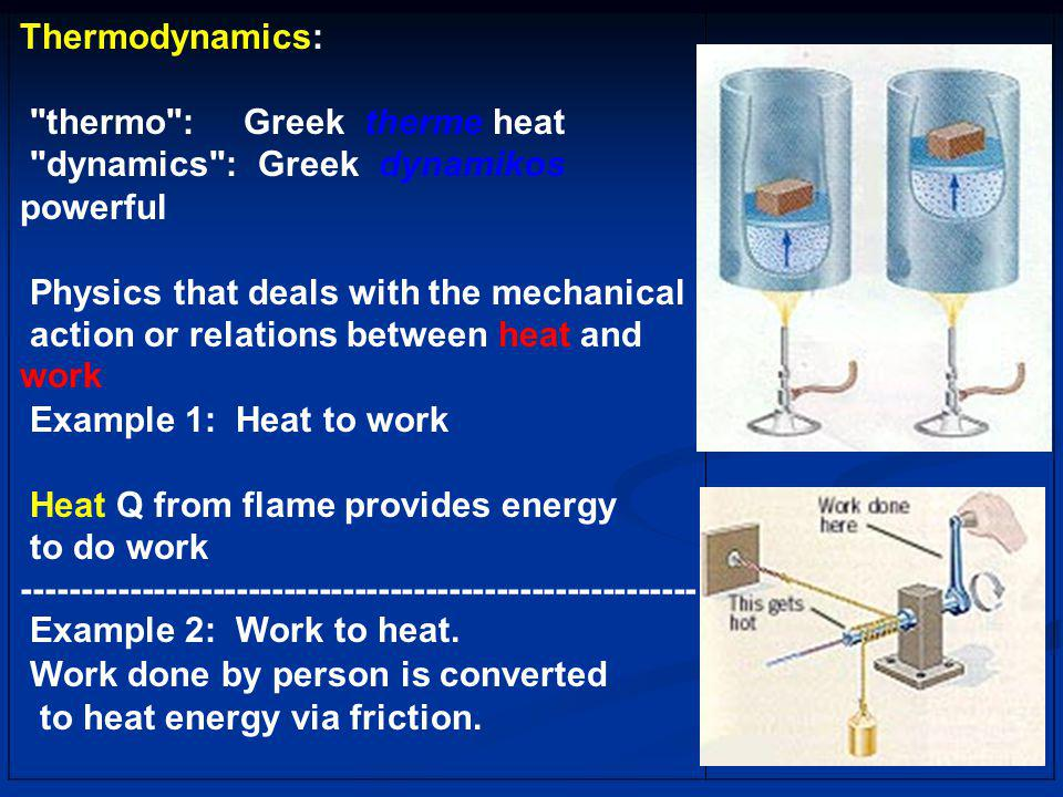 Work done by person is converted to heat energy via friction.