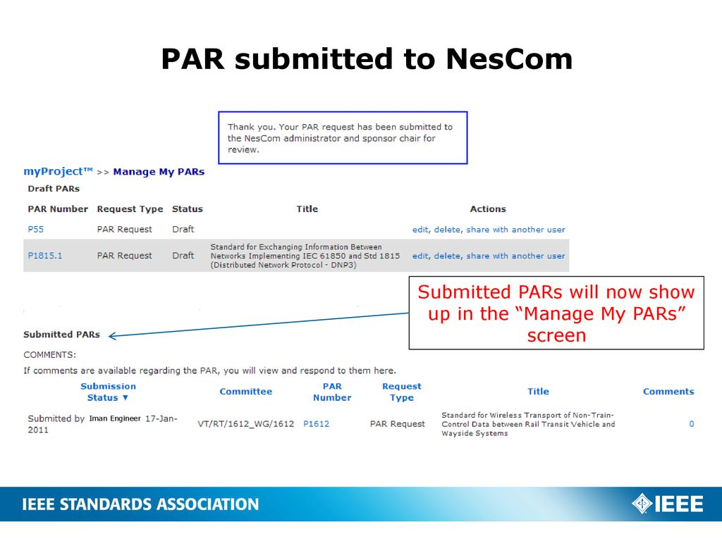 Tips on PAR submissions and Tools - ppt download