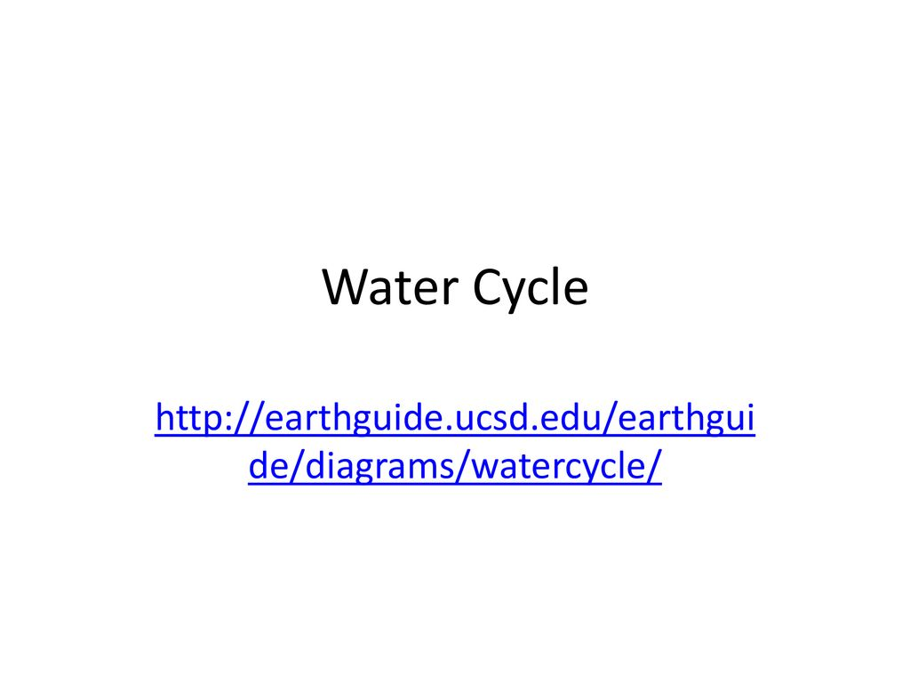 1 water cycle