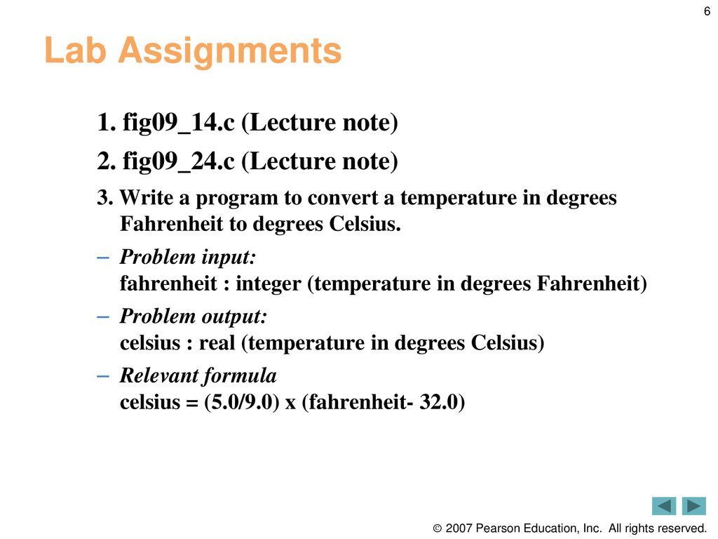 C Formatted Input / Output Review and Lab Assignments - ppt download
