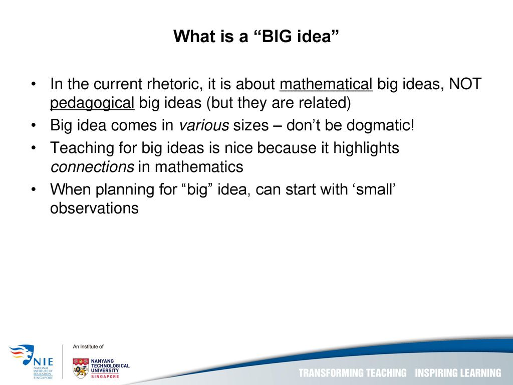 Big Ideas: From within-topic to across-topics - ppt download