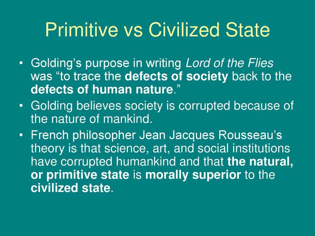 goldings philosophy of human nature