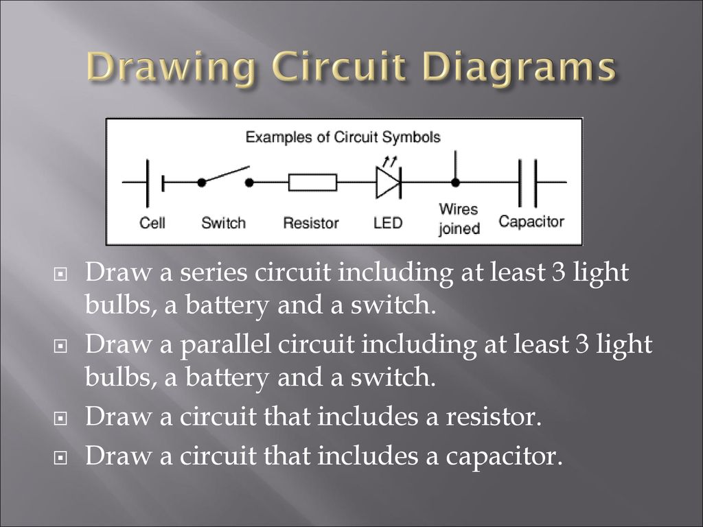 Drawing Circuit Diagrams