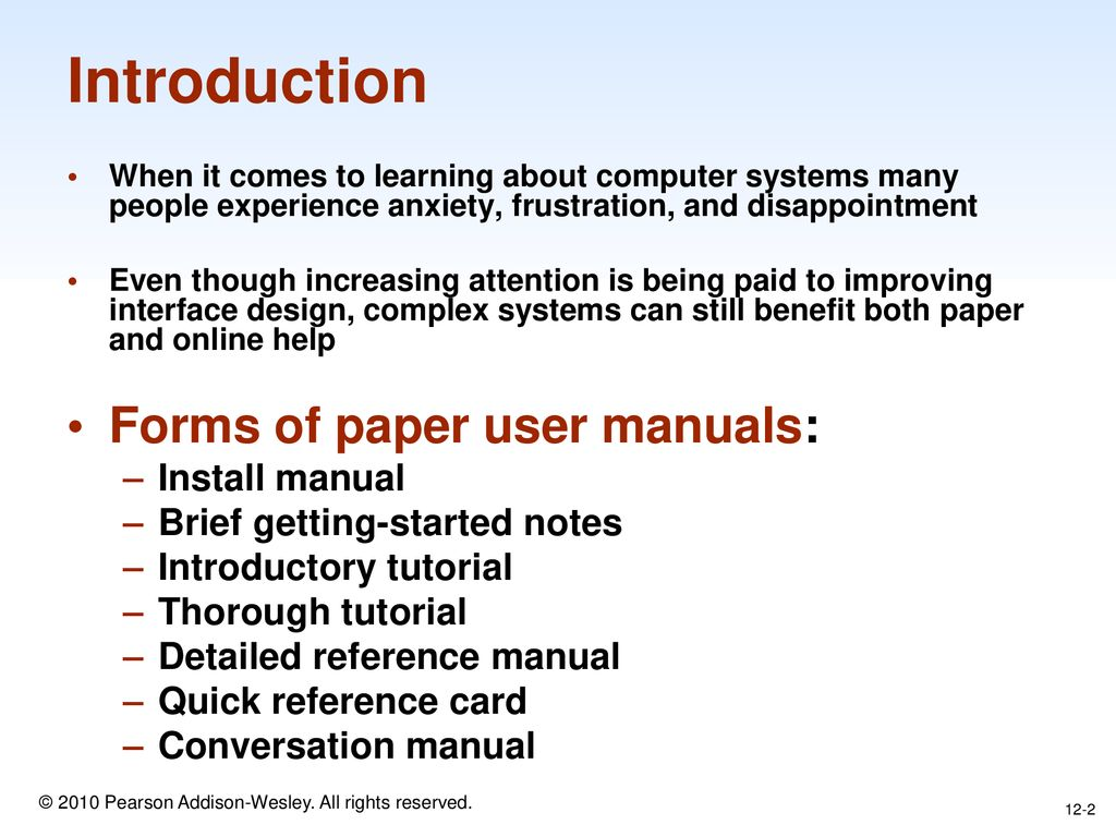 CHAPTER 12: User Documentation and Online Help - ppt download