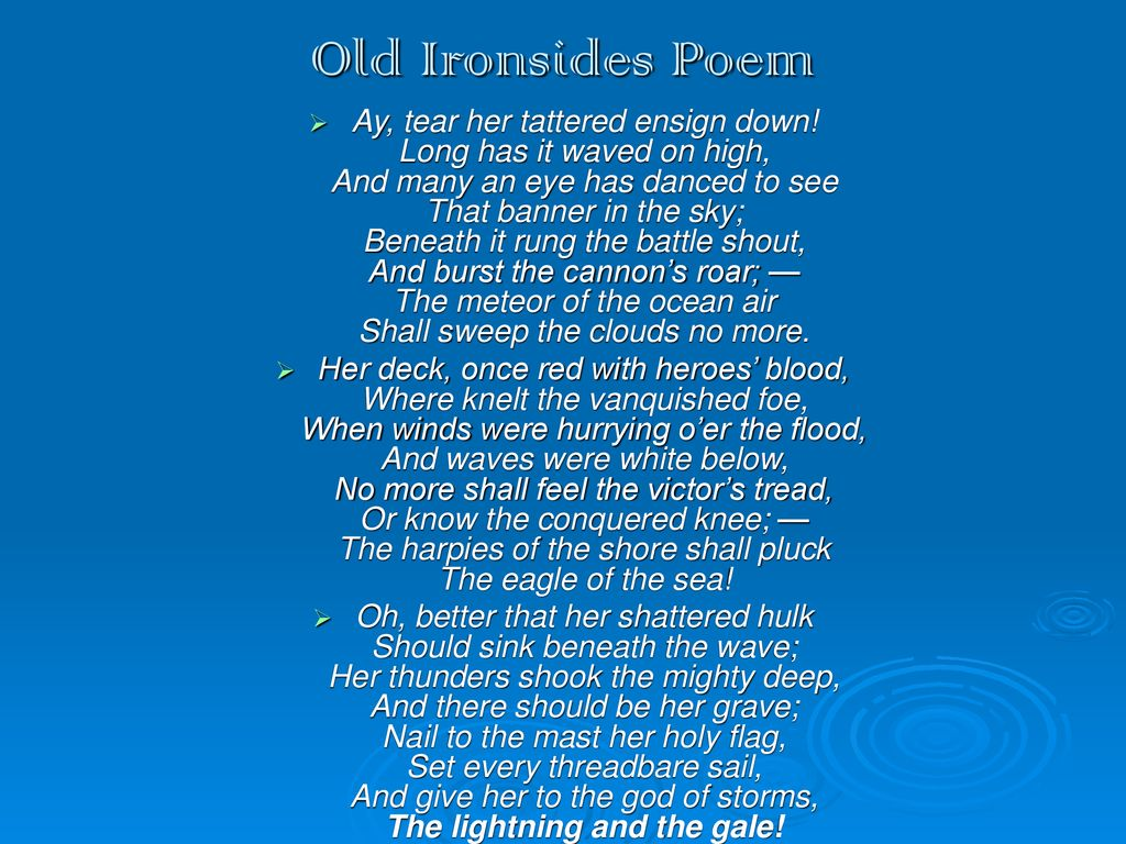 old ironsides poem theme