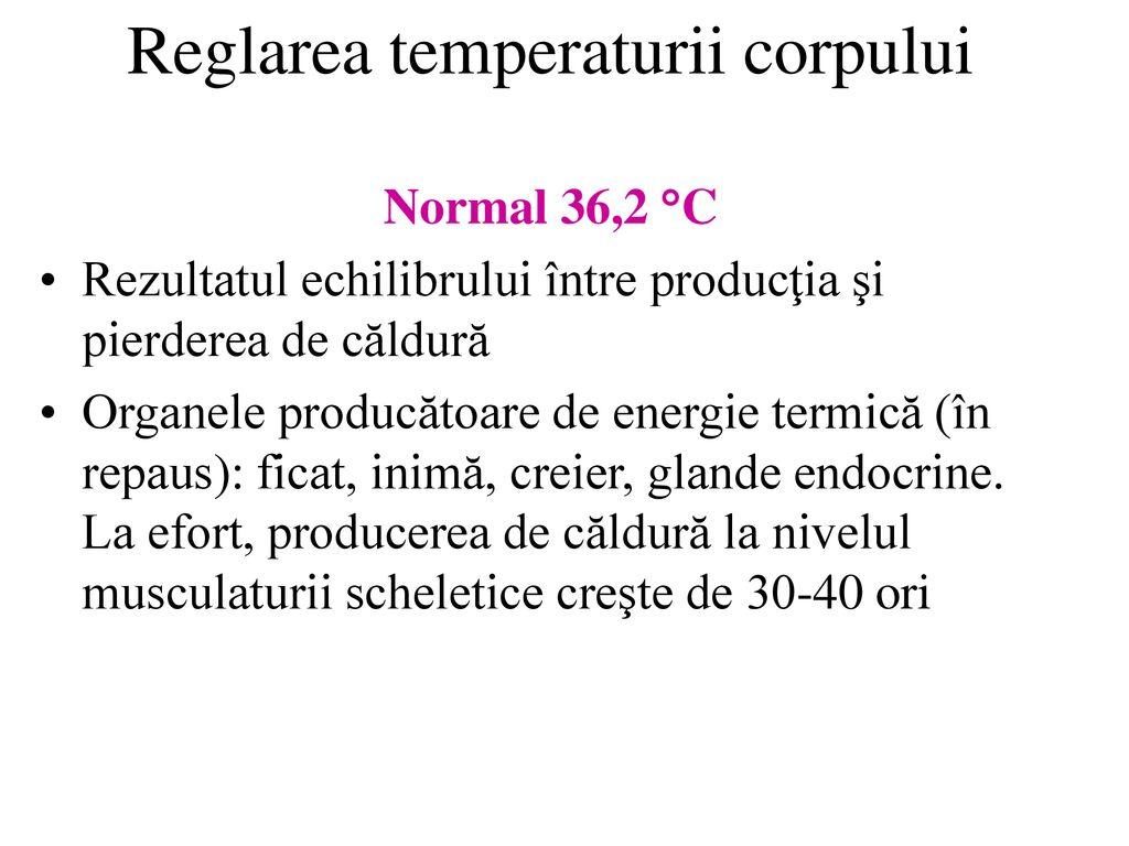 pierderea temperaturii)