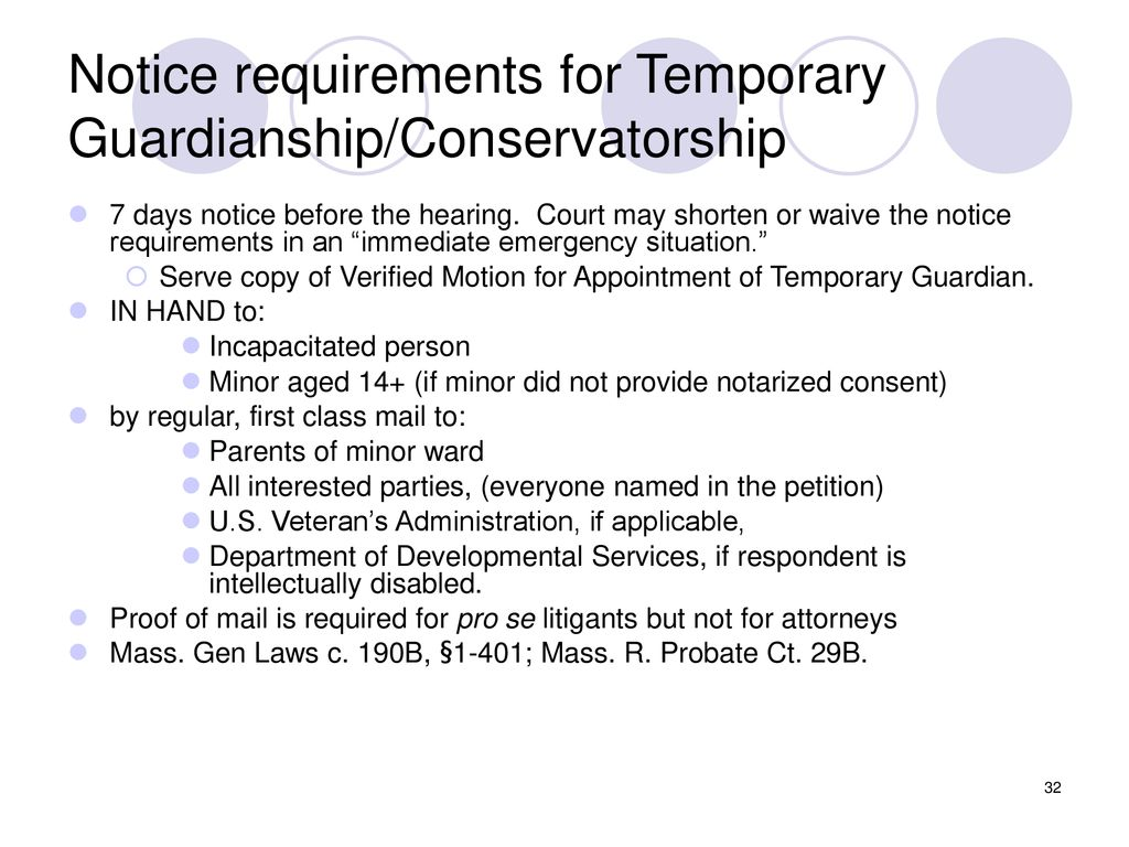 Lawyer of the Day Training: Guardianship and Conservatorship